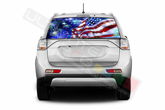 4th July Perforated Decals compatible with Mitsubishi Outlander