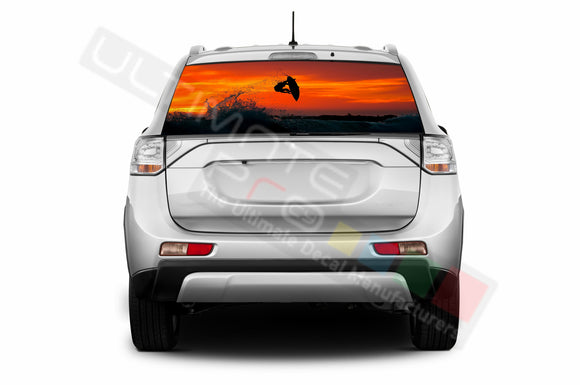 Surf Perforated Decals compatible with Mitsubishi Outlander