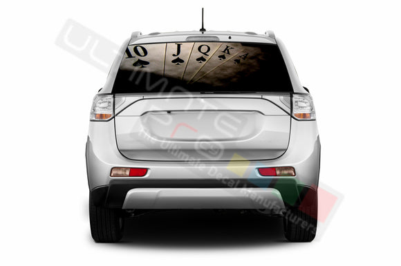 Poker Perforated Decals compatible with Mitsubishi Outlander
