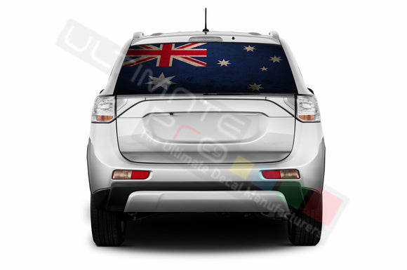 Australian Perforated Decals compatible with Mitsubishi Outlander