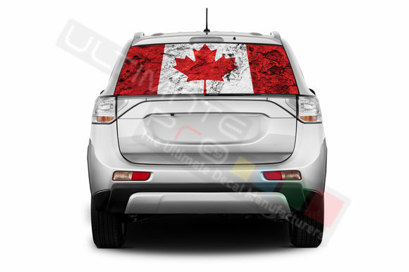 Canada Perforated Decals compatible with Mitsubishi Outlander