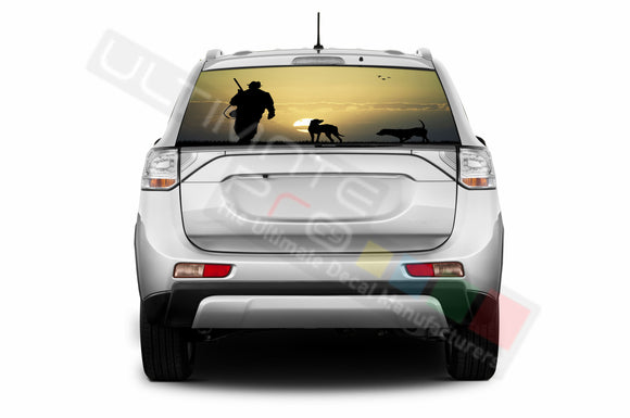 Hunting 1 Perforated Decals compatible with Mitsubishi Outlander