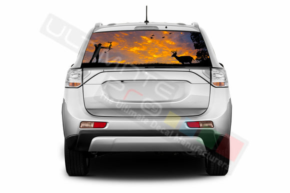 Hunting Perforated Decals compatible with Mitsubishi Outlander