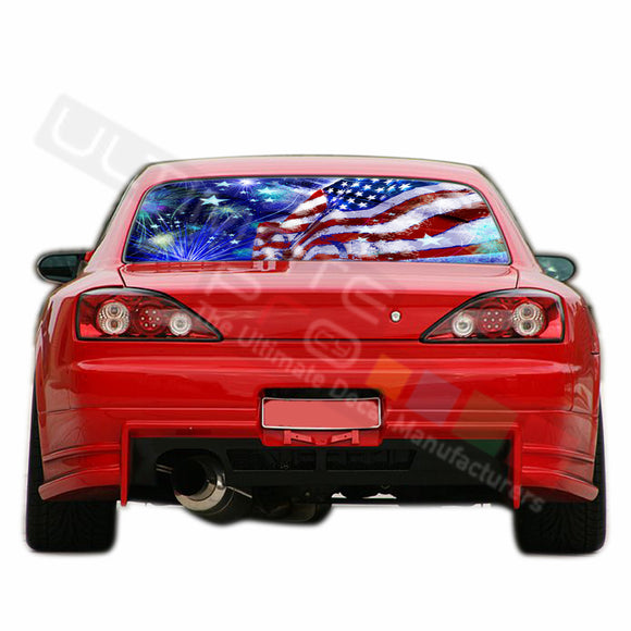 4th July  Perforated Decals compatible with Nissan Silvia