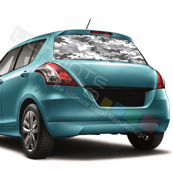 Camo Perforated Decals compatible with Suzuki Swift