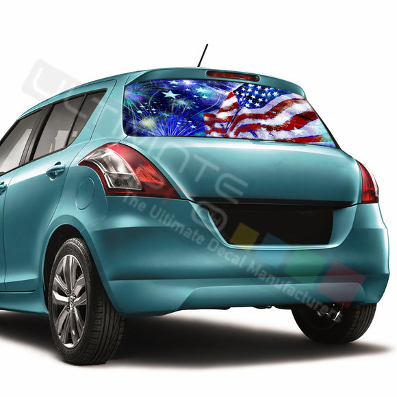4th July Perforated Decals compatible with Suzuki Swift