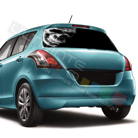 Skull 1 Perforated Decals compatible with Suzuki Swift