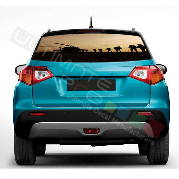 Army Perforated Decals compatible with Suzuki Vitara
