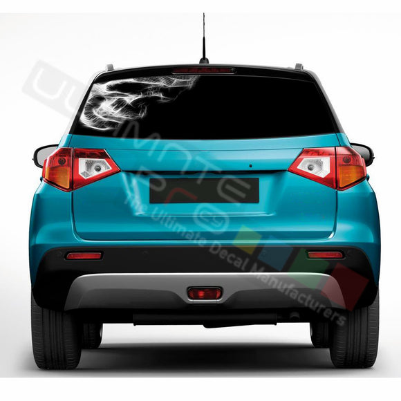 Skull 1 Perforated Decals compatible with Suzuki Vitara