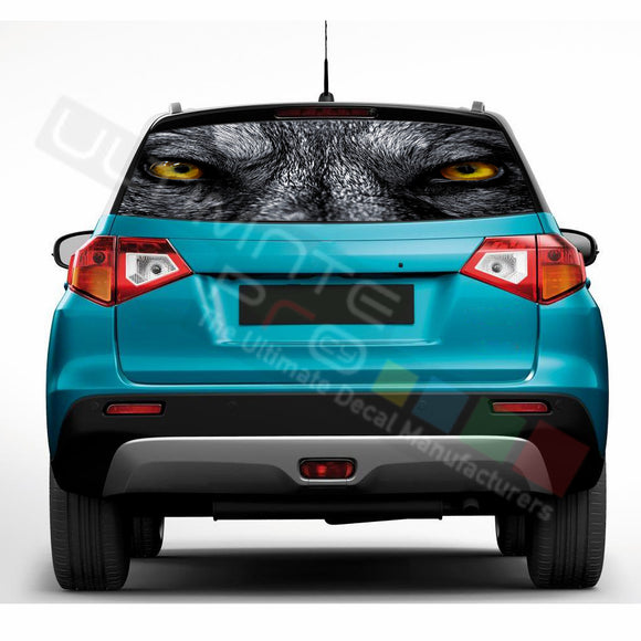 Wolf Perforated Decals compatible with Suzuki Vitara