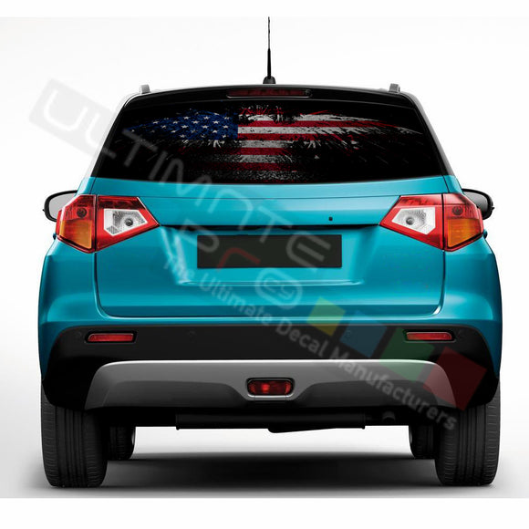 Eagle Flag Perforated Decals compatible with Suzuki Vitara