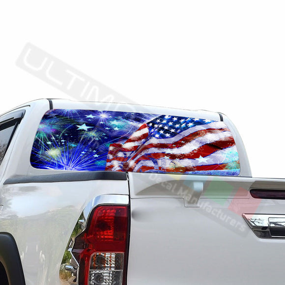 4th July Perforated Decals compatible with Toyota Hilux