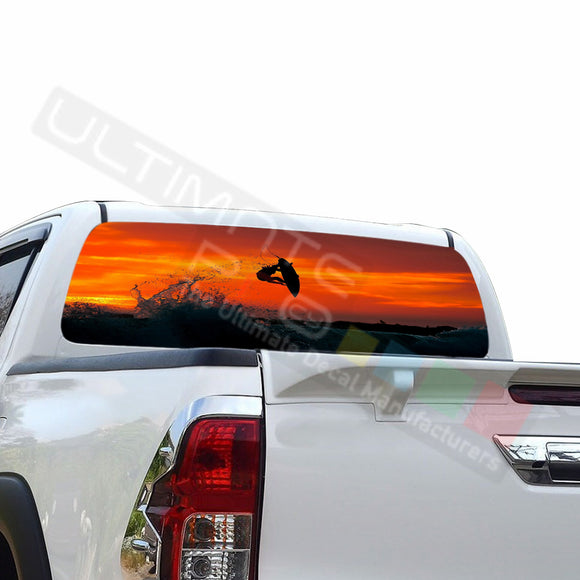 Surf Perforated Decals compatible with Toyota Hilux