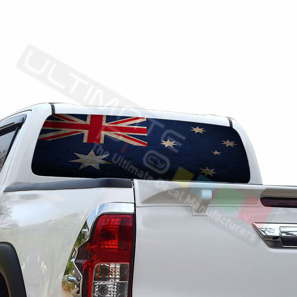Australian Perforated Decals compatible with Toyota Hilux