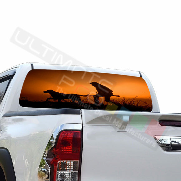 Hunting Perforated Decals compatible with Toyota Hilux
