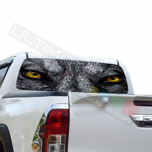 Wolf Perforated Decals compatible with Toyota Hilux
