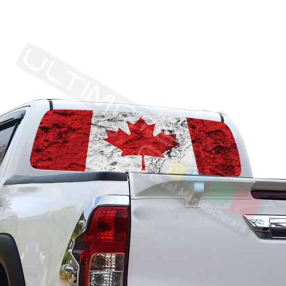 Canada Perforated Decals compatible with Toyota Hilux
