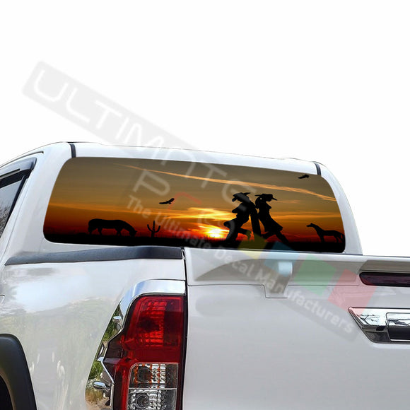 West Perforated Decals compatible with Toyota Hilux