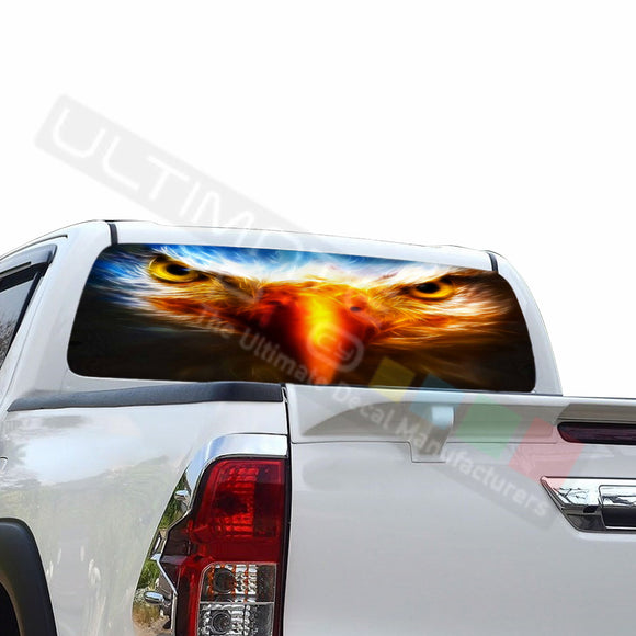 Eagle Eyes Perforated Decals compatible with Toyota Hilux