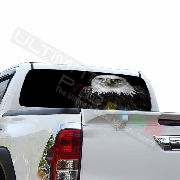 Eagle 2 Perforated Decals compatible with Toyota Hilux