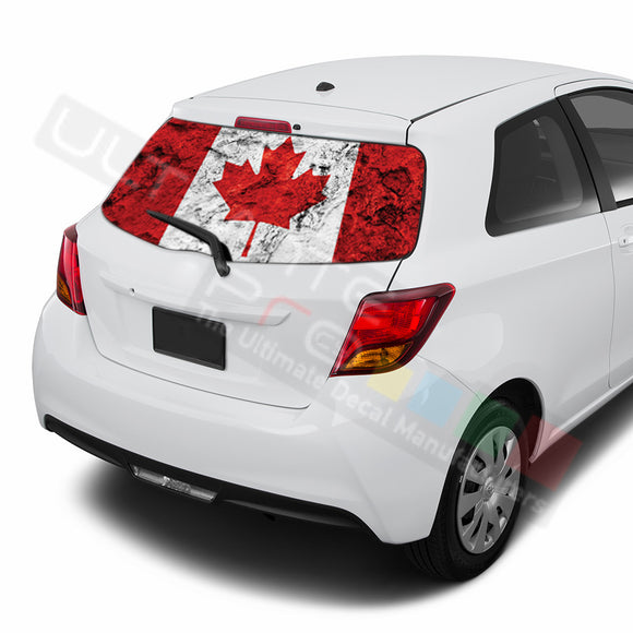 Canada Perforated Decals compatible with Toyota Yaris
