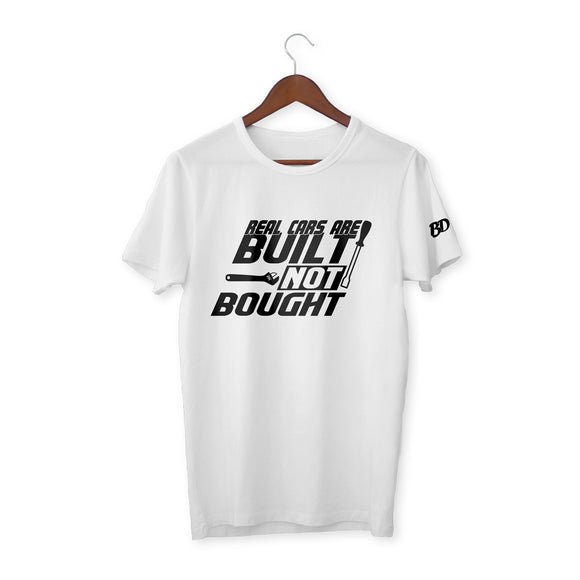 Real Cars Are Built Not Bought T-Shirt