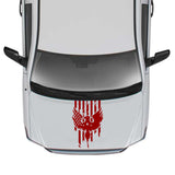 Hood USA Flag Sticker Graphic Compatible with Toyota Tundra 2007-Present