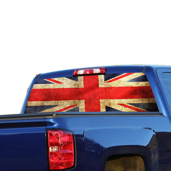 UK Flag Perforated for Chevrolet Silverado decal 2015 - Present