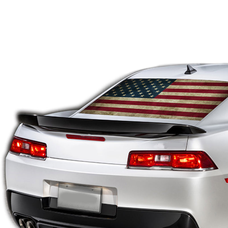 USA Flag 1 Perforated for Chevrolet Camaro Vinyl 2015 - Present