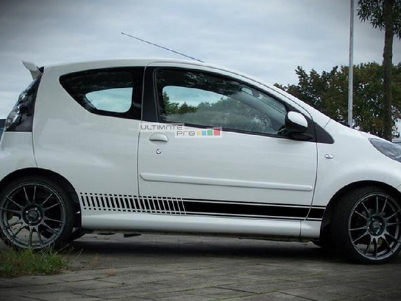 Universal Side Stripes Stickers Decals Graphic Peugeot 107