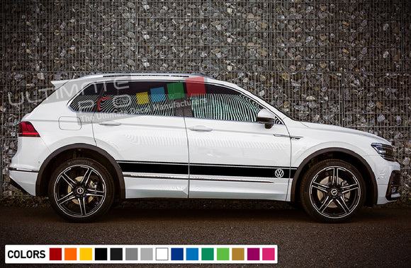 Decals stickers for Volkswagen Tiguan 2010 - Present