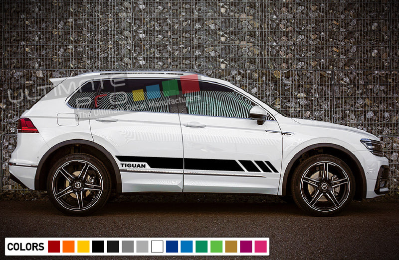 Stickers decals for Volkswagen Tiguan 2010 - Present