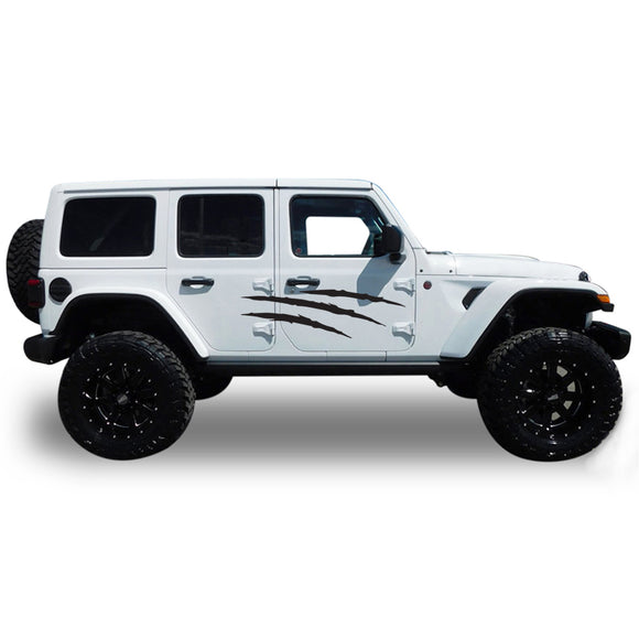 Decal scratch Compatible with Jeep JL Wrangler 2019-Present
