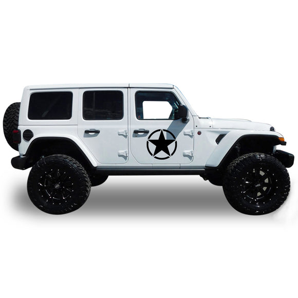 Decal stars Compatible with Jeep Wrangler 2019-Present