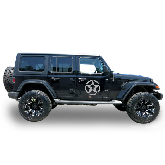Decal star punisher Compatible with Jeep Wrangler 2019-Present