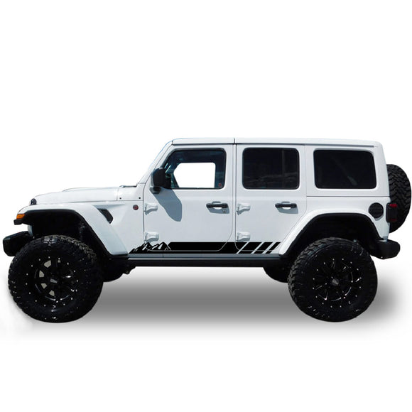 Decal Sticker Vinyl Compatible with Jeep Wrangler 2019