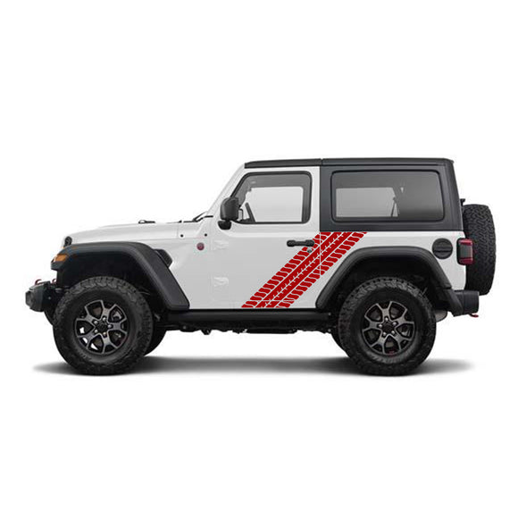 Decal Tyre Tracks Compatible with Jeep Wrangler 2019-Present