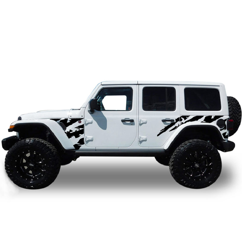 Decal bed front sticker Compatible with Jeep JL Wrangler 2019-Present