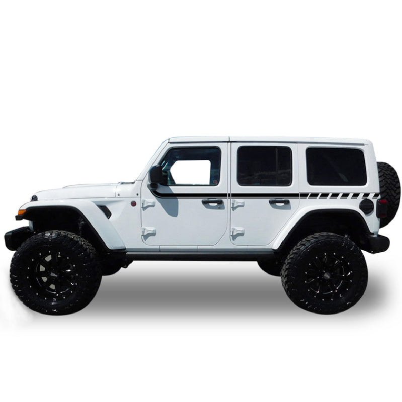 Decal Sticker Compatible with Jeep Wrangler 2019