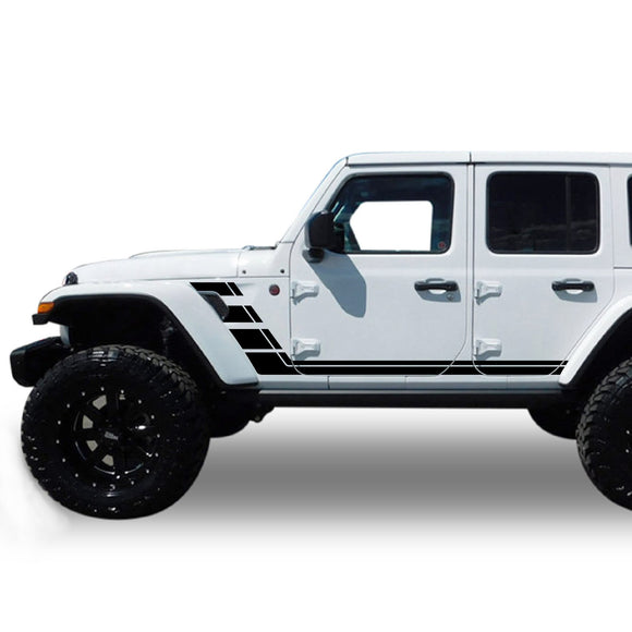 Decal lower bumper stripes Compatible with Jeep JL Wrangler 2019-Present