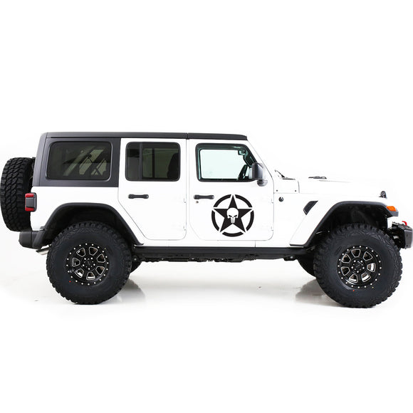 Decal star punisher Compatible with Jeep JL Wrangler 2019-Present
