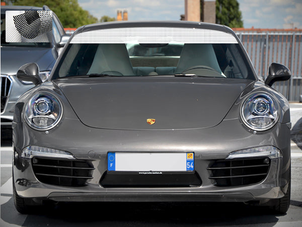 Windshield Banner Sport Strip Decal Sticker Compatible with Porsche