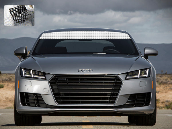 Windshield Banner, Sunproof Sticker Vinyl Compatible with Audi