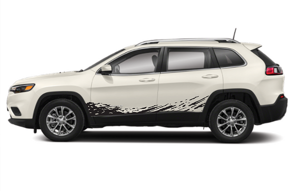 Lower Splash Decals Sticker Vinyl Compatible with Jeep Cherokee Trailhawk 2010-Present