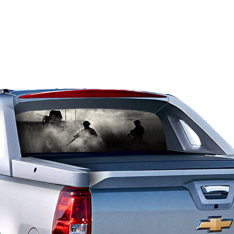 Army Perforated for Chevrolet Avalanche decal 2015 - Present