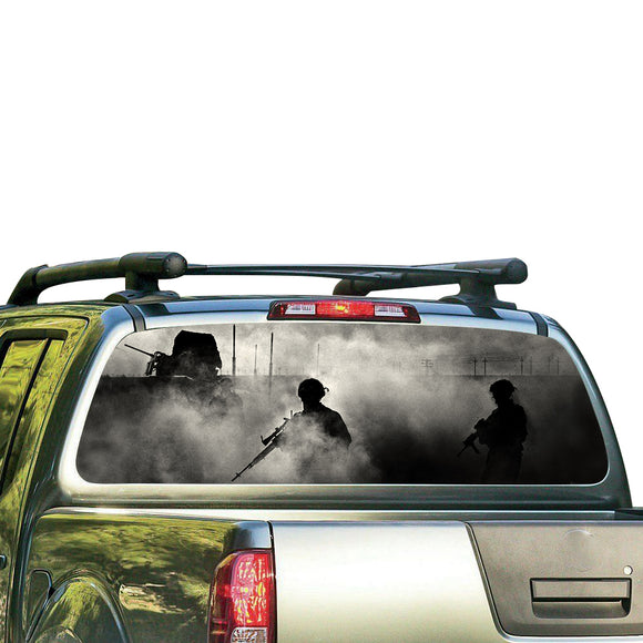 Army Perforated for Nissan Frontier decal 2004 - Present