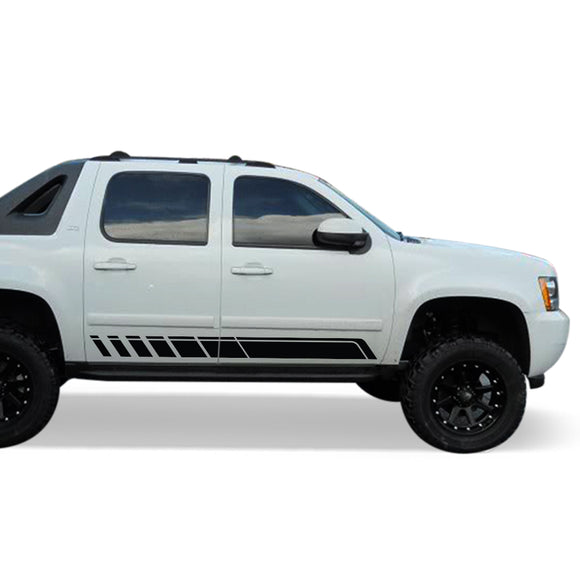 Side door Sticker Design, vinyl for Chevrolet Avalanche decal 2015 - Present