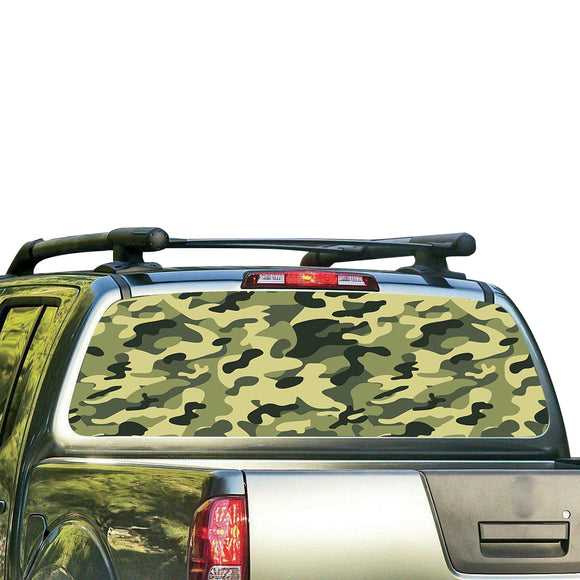 Camo Perforated for Nissan Frontier decal 2004 - Present