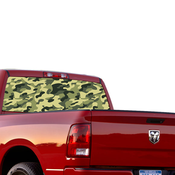 Camouflage Perforated for Dodge Ram decal 2015 - Present