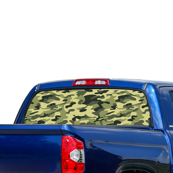 Green Army Perforated for Toyota Tundra decal 2007 - Present